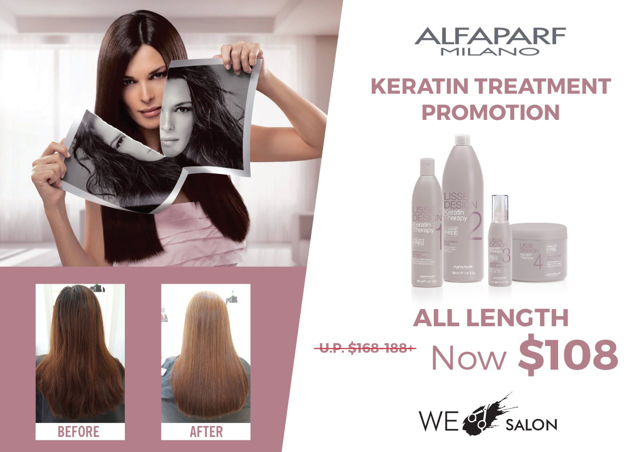 Alfaparf Keratin Treatment = $108 (All Hair Length)