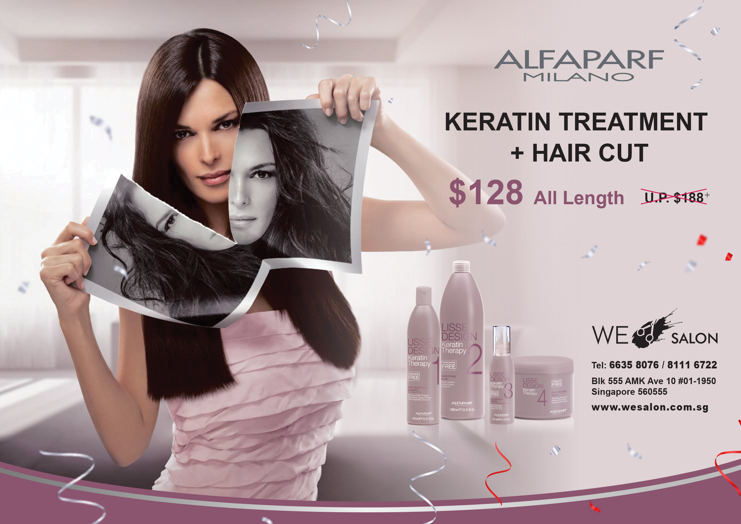 Alfaparf Keratin Treatment + Hair Cut = $128 (All Hair Length)