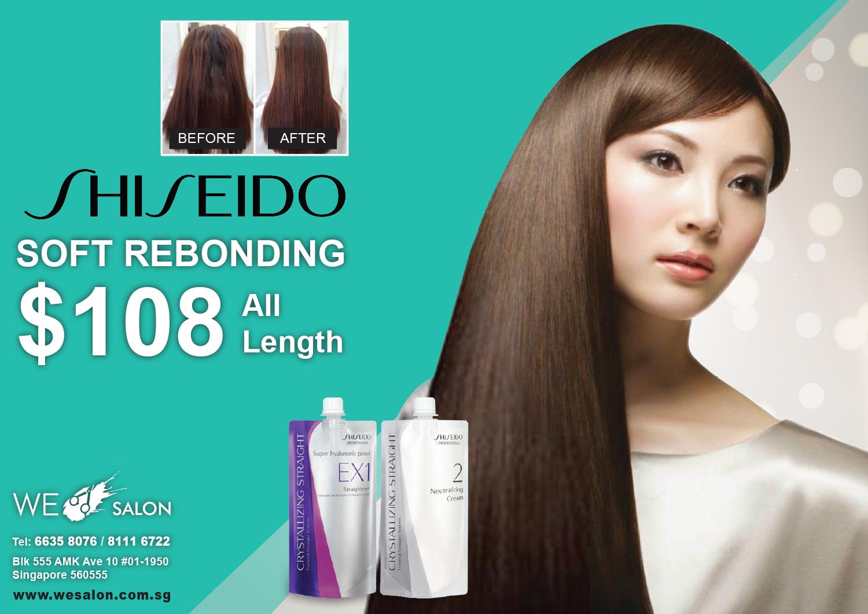 Shiseido Soft Rebonding = $108 (All Hair Length)