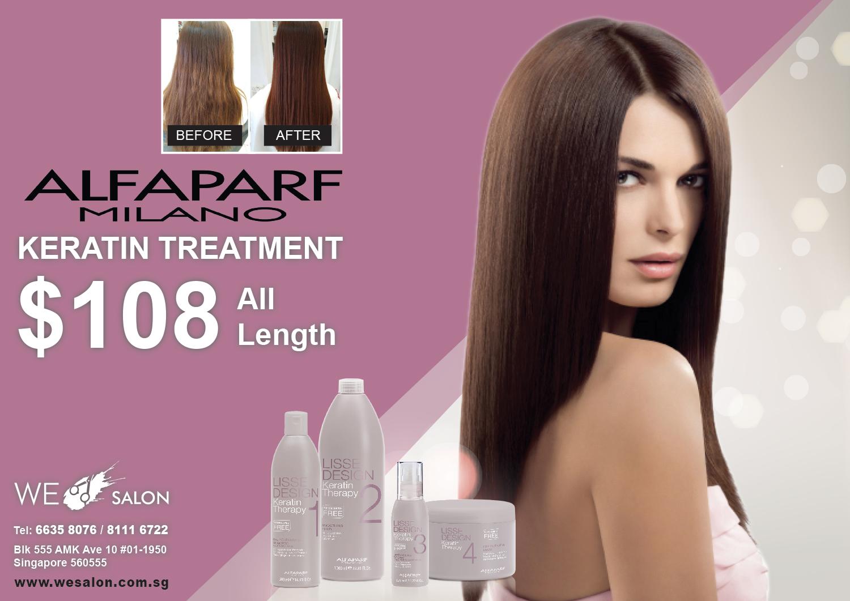 Alfaparf Keratin Treatment = $108 (All Hair Length)